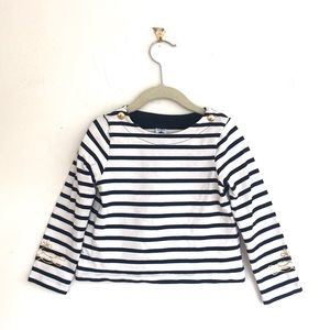 Petit Bateau Striped Nautical Sailor Top